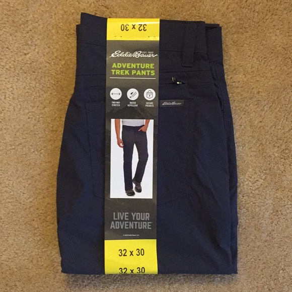 Eddie Bauer Men/'s Adventure Trek Pants GRAY FAST SHIPPING Select Size